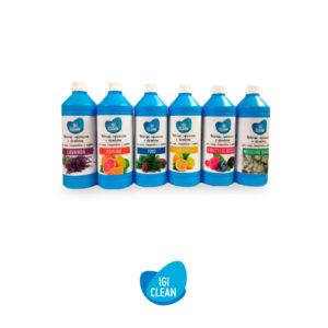 IGICLEAN linea di detergenti igienizzanti e deodoranti